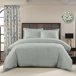 Crispy Soft 100% Cotton Percale Duvet Covers 3 Piece Breatha