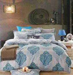 100% Cotton 6 Pieces Duvet cover+Pillow cases+Fitted Sheet B
