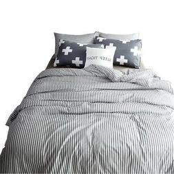 VM VOUGEMARKET 100% Cotton Duvet Cover Set King - Hotel Qual