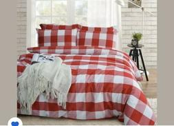 Merryfeel 100% Cotton Yarn Dyed Duvet Cover Set King Size