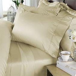 1200 Thread Count 100% Egyptian Cotton STRIPED Gold Queen Du