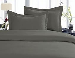 Gray Elegant Comfort 1500 Thread Count Egyptian Quality 3 Piece Wrinkle Free and Fade Resistant Luxurious Duvet Cover Set King//California King