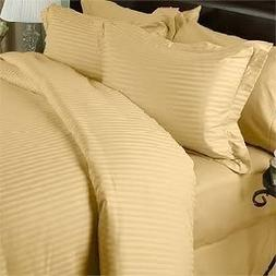 1500 Thread Count Egyptian Cotton  Full Size, GOLD Stripe, D