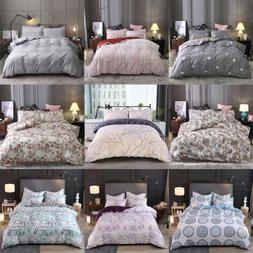 3 pcs floral double washed microfiber duvet