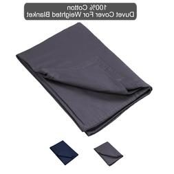 "100% Cotton Duvet Cover For Weighted Blanket 3 pcs 48""x72""/"