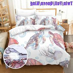 3 Piece bedding set: duvet cover & pillow shams, twin/queen/