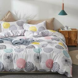 Uozzi Bedding 3 Piece Duvet Cover Set Queen  Wit
