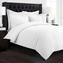 Hotel Collection 3 Piece Duvet Cover Set with Embossed Strip
