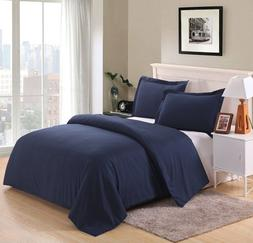Colourful Snail 3-piece Luxury Duvet Cover Set QUEEN NAVY