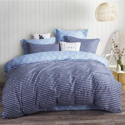 Uozzi Bedding 3 Piece Navy Duvet Cover Set 1 Duvet Cover + 2