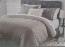 Threshold 3 Piece Reversable Flannel Herringbone Duvet Cover