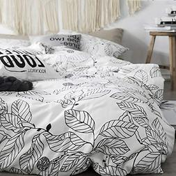 Uozzi Bedding 3 Piece White Duvet Cover Set 1 Duvet Cover +