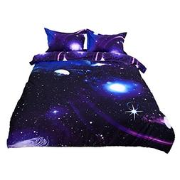 uxcell 3D Bedding Sets Bedlinen Mysterious Sky Starry Cosmos