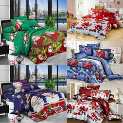 3D Christmas Bedding Sets Duvet Cover bed Sheet Pillow Case