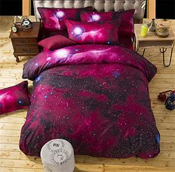Jane yre 3D Galaxy Colorful Outer Space Night Duvet Cover Se