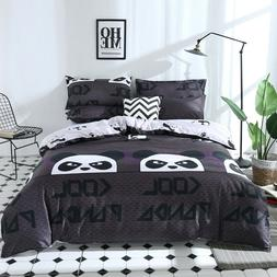 3D Kid Duvet Cover Set Cartoon Panda Printing Quilt Cover Pi