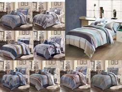 3pc contemporary duvet cover set for comforter
