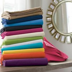 3pc Duvet Cover Set Solid All Colors Sizes 1000 Thread Count