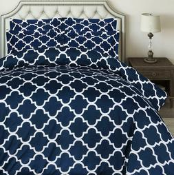 Utopia Bedding 3pc Printed Duvet Cover Set with 2 Pillow Sha