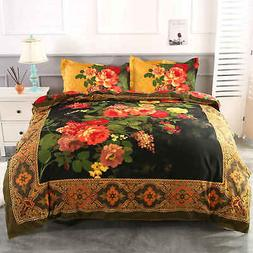 4 Pieces Duvet Cover Set Antique Retro Luxury Oil Painting P