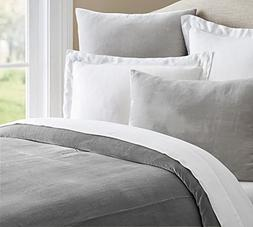 400 Thread Count 100% White Cotton Duvet Cover with Silky So