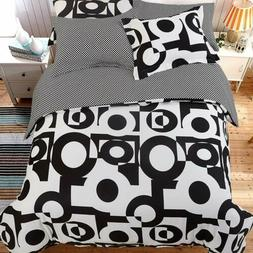 5 Pieces Microfiber Duvet Cover Set Ultra Soft Cozy Reversib