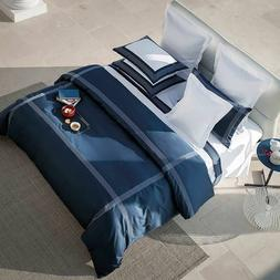 $600 FRETTE HOTEL PORTO QUEEN DUVET COVER SATEEN EMBROIDERY