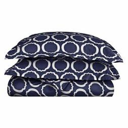 600 Thread Count Cotton Blend Scroll Park Duvet Cover Set by