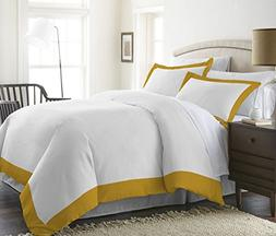 Bed Alter 600 Thread Count 3 Pc Two Tone Duvet Cover  100% E