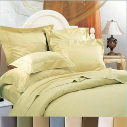 650 Thread Count Duvet Cover Cotton Blend Wrinkle-Free Solid