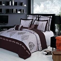 100% Cotton Gizelle Embroidered Duvet Cover Set