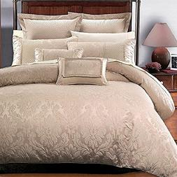 7PC- King/Cal-King Sara Jacquard Duvet Cover Set By Hotel Co