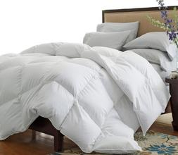 LUXURIOUS KING Size White Goose Down Alternative Comforter D
