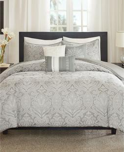 Madison Park Quinn Duvet Cover King/Cal King Size - Grey, Ja