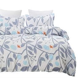 Vaulia Lightweight Microfiber Duvet Cover Set, Reversible Pr