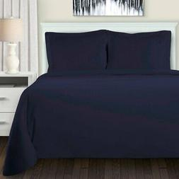 All Season Flannel Solid Reversible Duvet Cover Set by Super