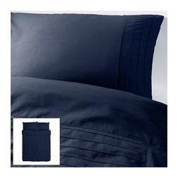 Alvine Stra Pleated Twin 2 Pc Duvet Quilt Cover Set, Navy Bl