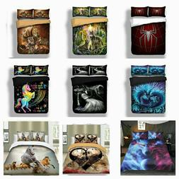 Animal Duvet Cover Set For Comforter Twin/Queen/King Size Be