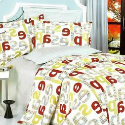 Blancho Bedding -  100% Cotton 4pc Duvet Cover Set (com