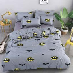 Batman Kids Bedding Duvet Cover Set Pillow Case Cartoon Twin