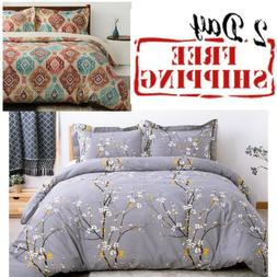 Bed Set Duvet Cover Soft Microfiber Comforter Bedding Queen