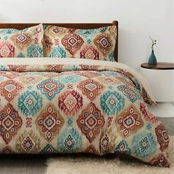 Bedsure Bohemian Duvet Cover Twin Size with Zipper Closure,