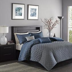 Biloxi 6 Piece Duvet Cover Set Navy King/Cal King