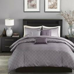 Madison Park Biloxi Duvet Cover Full/Queen Size - Purple, Ge