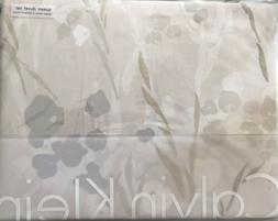 Calvin Klein Blanca 3 Pc 100% Cotton Sateen Queen Duvet Cove