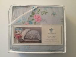 Simply Shabby Chic Blue Lily Rose Duvet Cover Set - TWIN - N