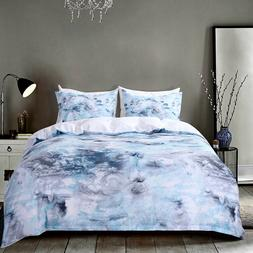 Blue Marble Bedding Marble Duvet Cover Set Kids/Teen Bedding