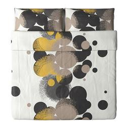 Ikea Bolltistel Duvet Cover and Pillowcases, King, Yellow