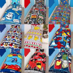 BOYS CHARACTER SINGLE QUILT DUVET COVER AND PILLOWCASE BEDDI