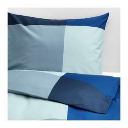 Ikea Brunkrissla Full Queen Duvet Cover and Pillowcases Blue